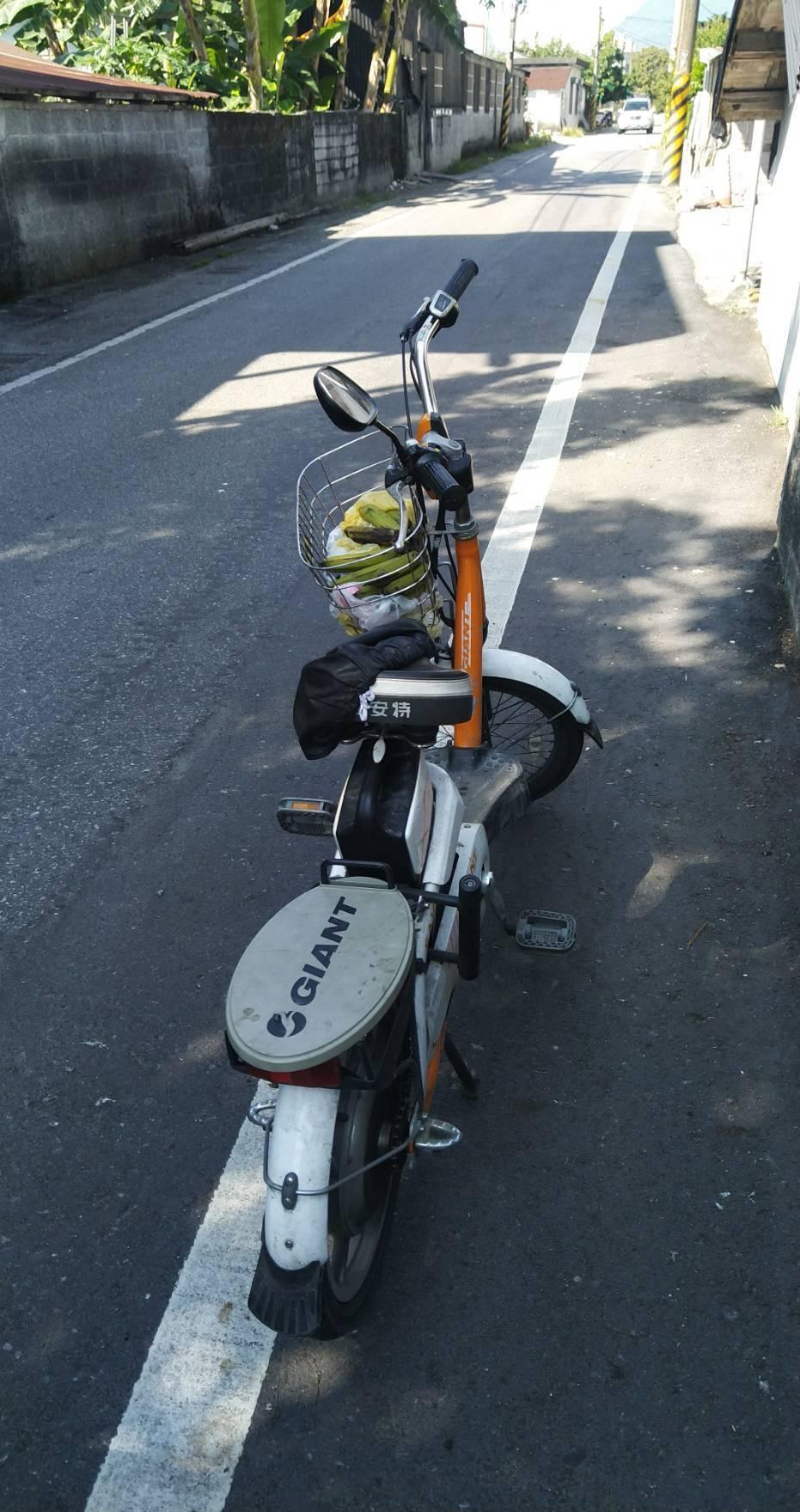 車主近萬元的電動自行車毫髮無傷。圖/吉安警分局提供
