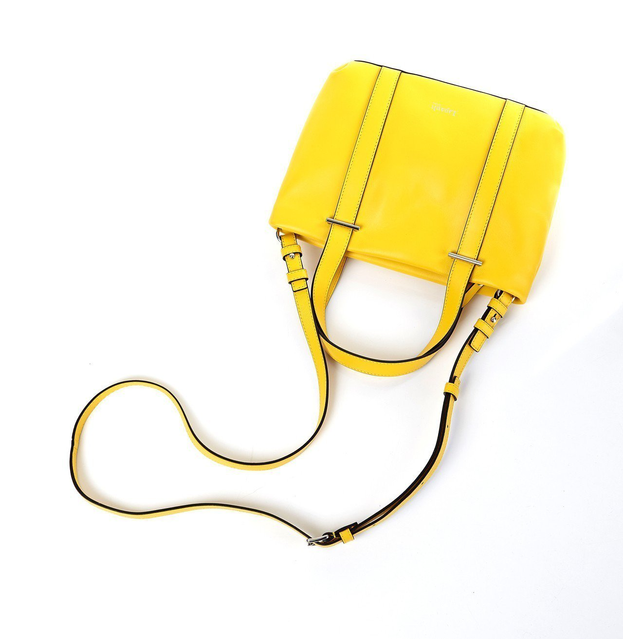 Lipault檸檬黃真皮小托特包,售價6,300元。圖/Lipault提供