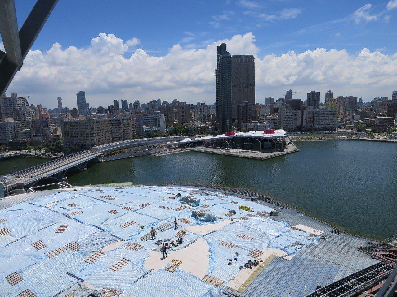 海音中心完成之後可以俯視愛河美景。記者謝梅芬/攝影