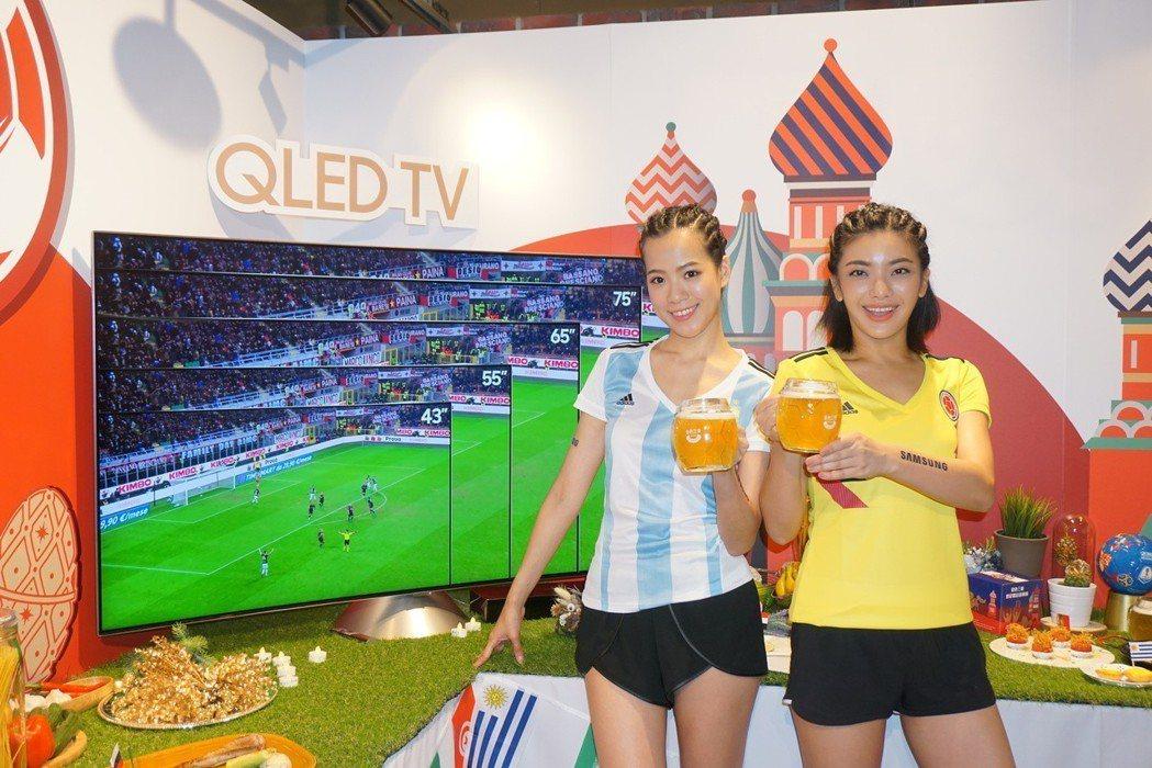 台灣三星電子與金色三麥餐廳跨界結盟,邀請消費者一同迎接足球季的熱血賽事。記者黃筱...
