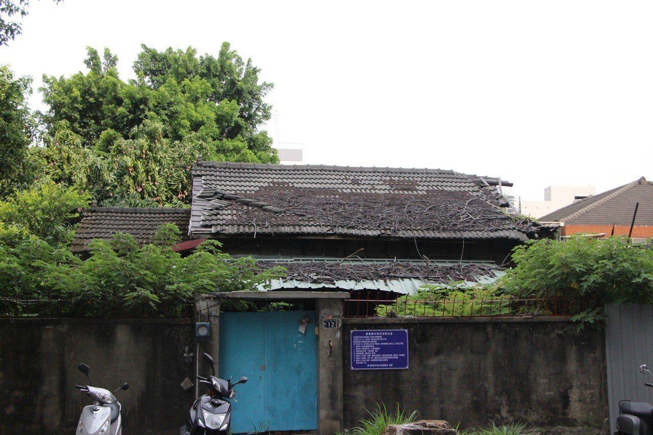 台中地院附近的舊宿舍群。記者林敬家/攝影