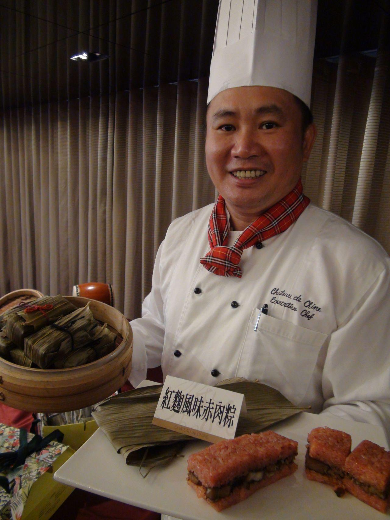 翰品高雄酒店推出創意造型肉粽。記者謝梅芬/攝影