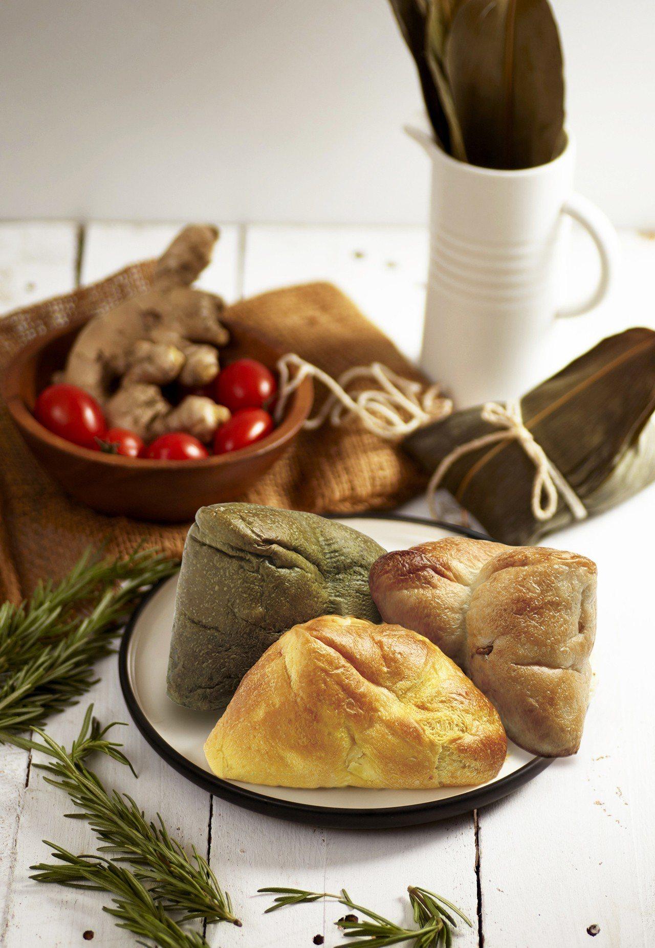 帕莎蒂娜烘焙坊推出限量版古麵包粽。圖/帕莎蒂娜烘焙坊提供