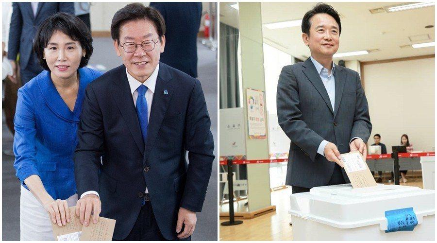 而保守派執政16年的京畿道,則極可能上演被共同民主黨翻盤的戲碼。圖為強勢迎戰的進...