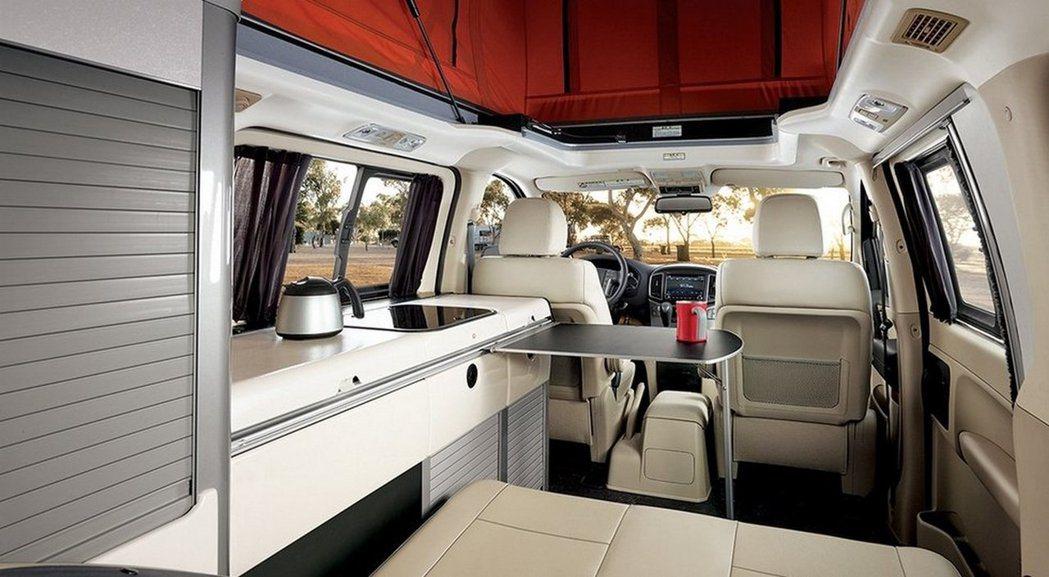 在商旅車寬闊的空間下,Hyundai Grand Starex Camper露營車的設備也不輸其他車廠。 圖/Hyundai提供