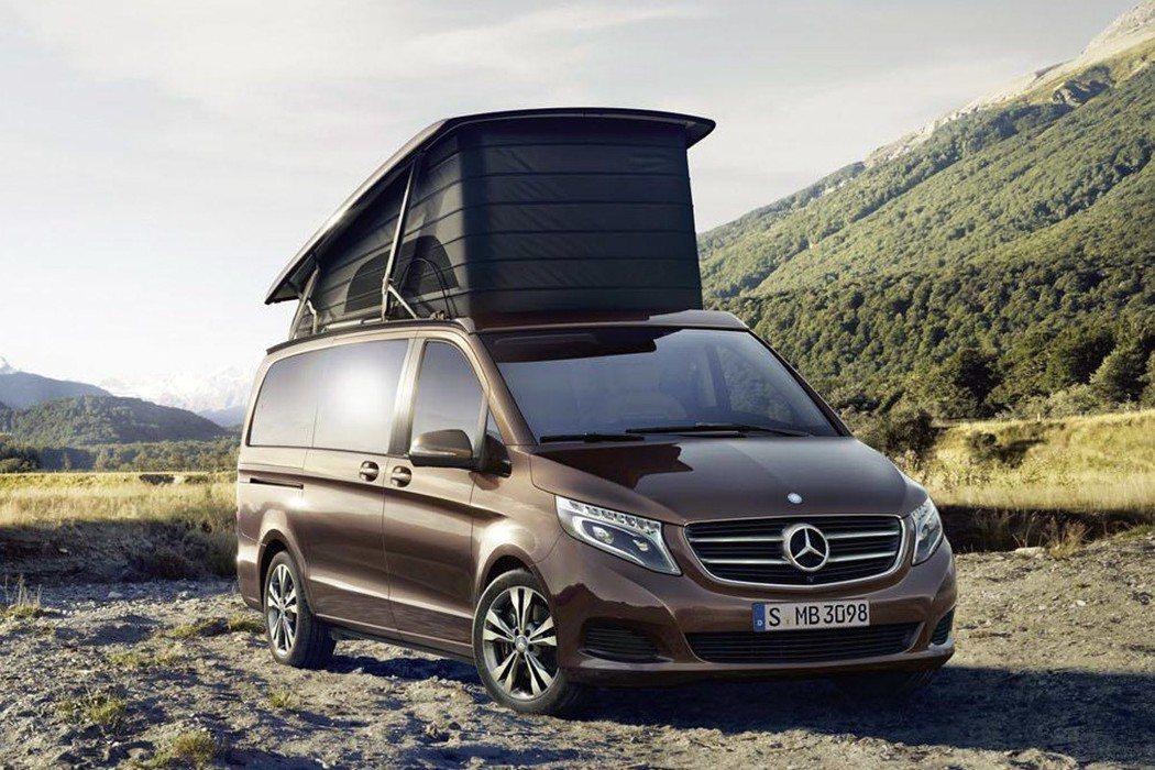 除平價品牌,德國豪華車廠Mercedes Benz也有Marco Polo露營車可選。 圖/Mercedes Benz提供