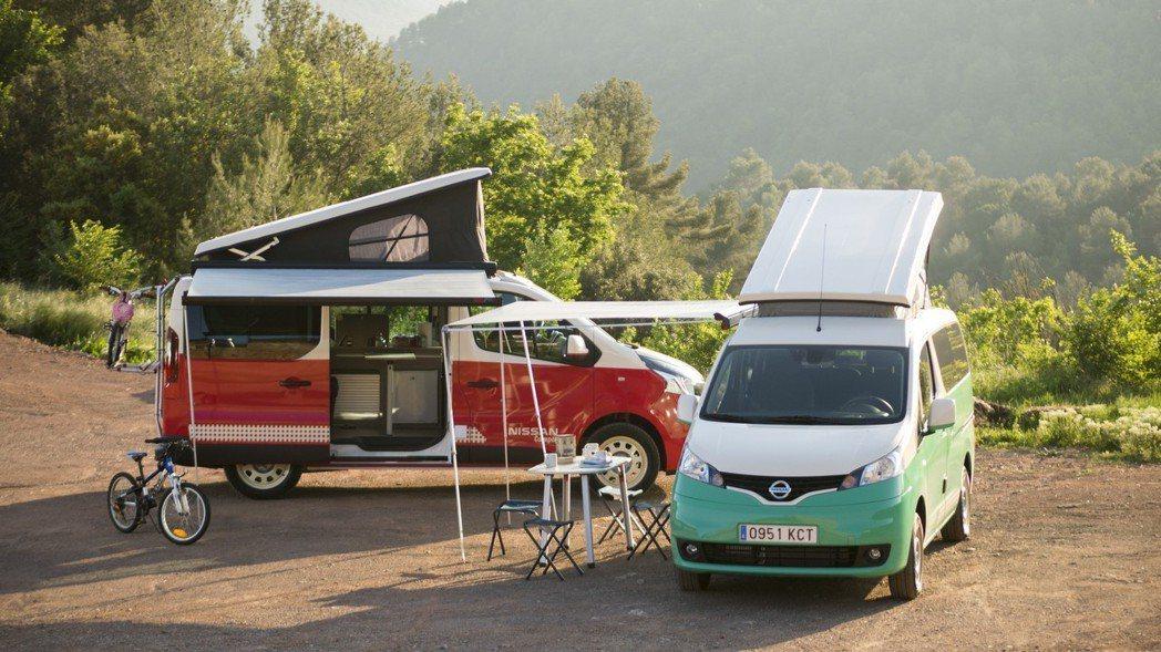 Nissan日前在西班牙馬德里車展一口氣推出兩款露營車,其中e-NV200 Ca...