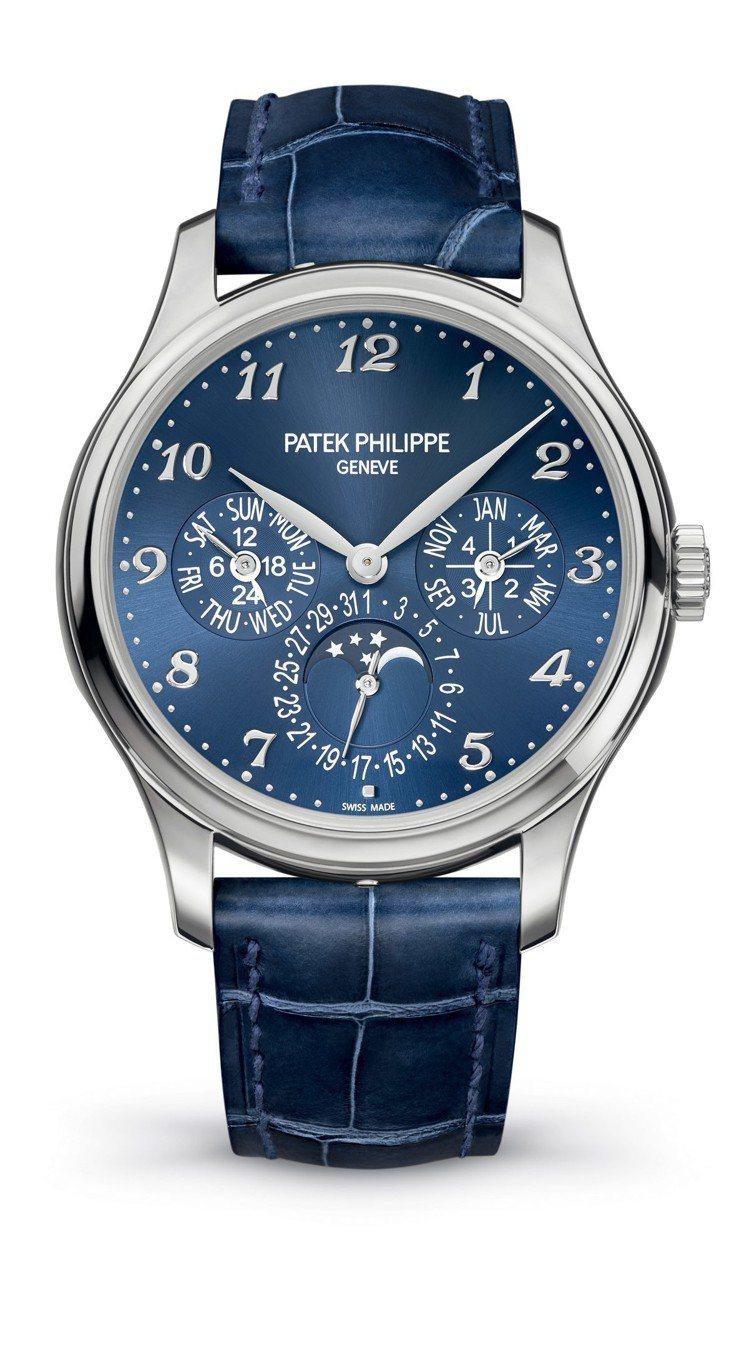 百達翡麗型號5327G_001 Calatrava自動上鍊萬年曆腕表,39毫米1...