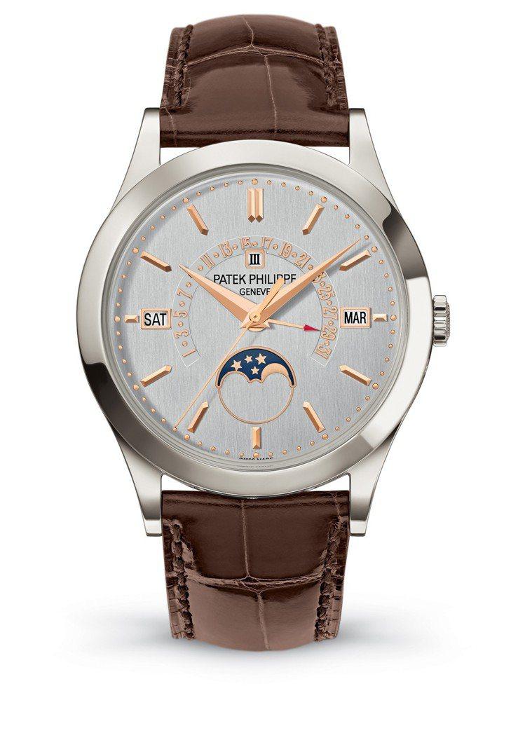 百達翡麗型號5496P_015自動上鍊萬年曆腕表配上自動回位日期指針,39.5毫...