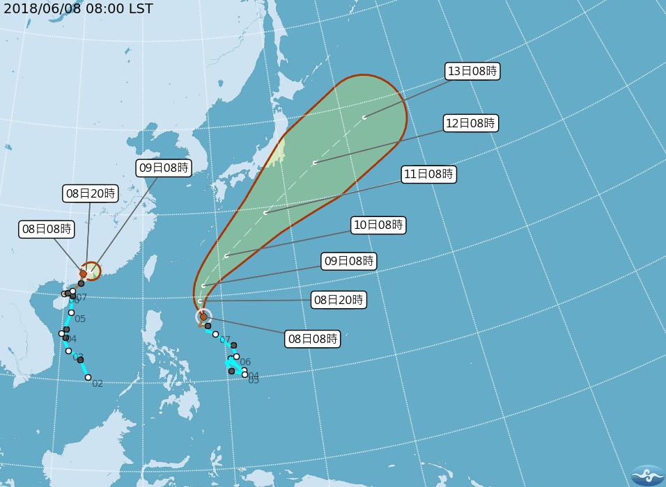今年第5號颱風馬力斯今天凌晨2點生成,中央氣象局評估對台灣無直接影響,但馬力斯北...