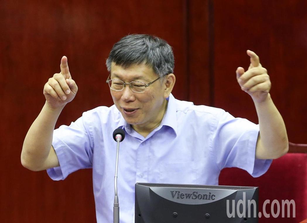 台北市長柯文哲。聯合報系記者陳柏亨/攝影