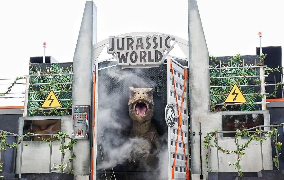 包括經典的霸王龍等猛獸,都會出現在「侏羅紀世界:怒號」之中。圖/取自Resort...