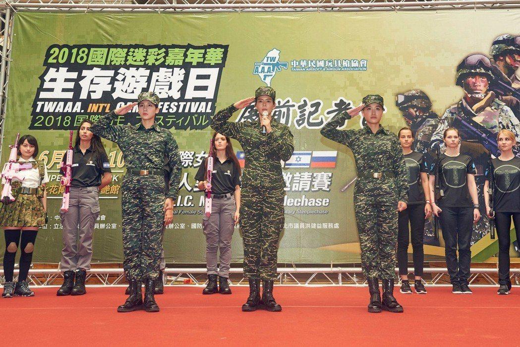 TVBS新戲「女兵日記」演員出席活動。圖/TVBS提供