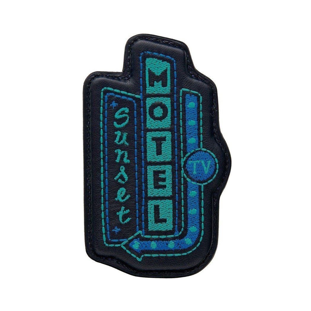 Endless road 系列 motel 圖紋刺繡釉面羔羊皮胸針,20,400...