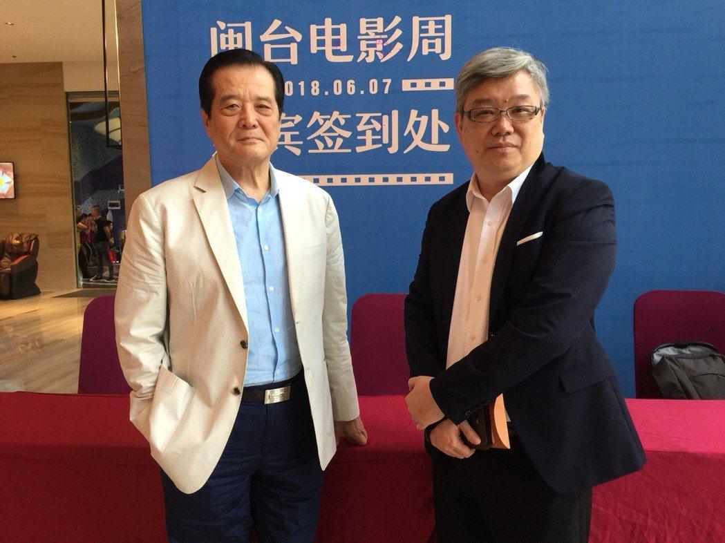 汪威江(左)、顧超出席海峽論壇。記者陳慧貞/攝影