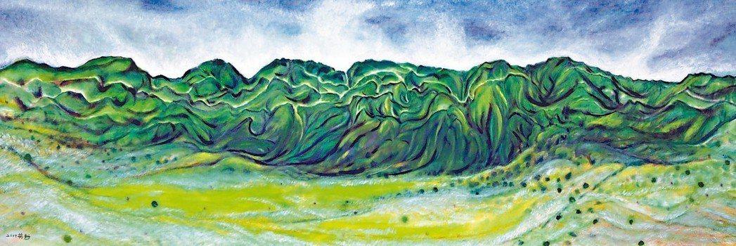 蔣勳「縱谷之秋」。 圖/谷公館畫廊提供