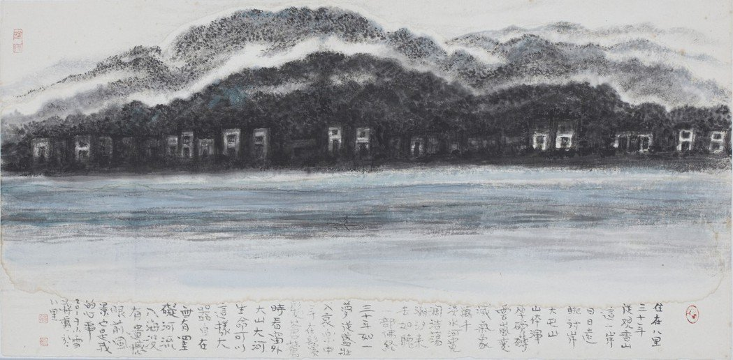 蔣勳「淡水河」。 圖/谷公館畫廊提供