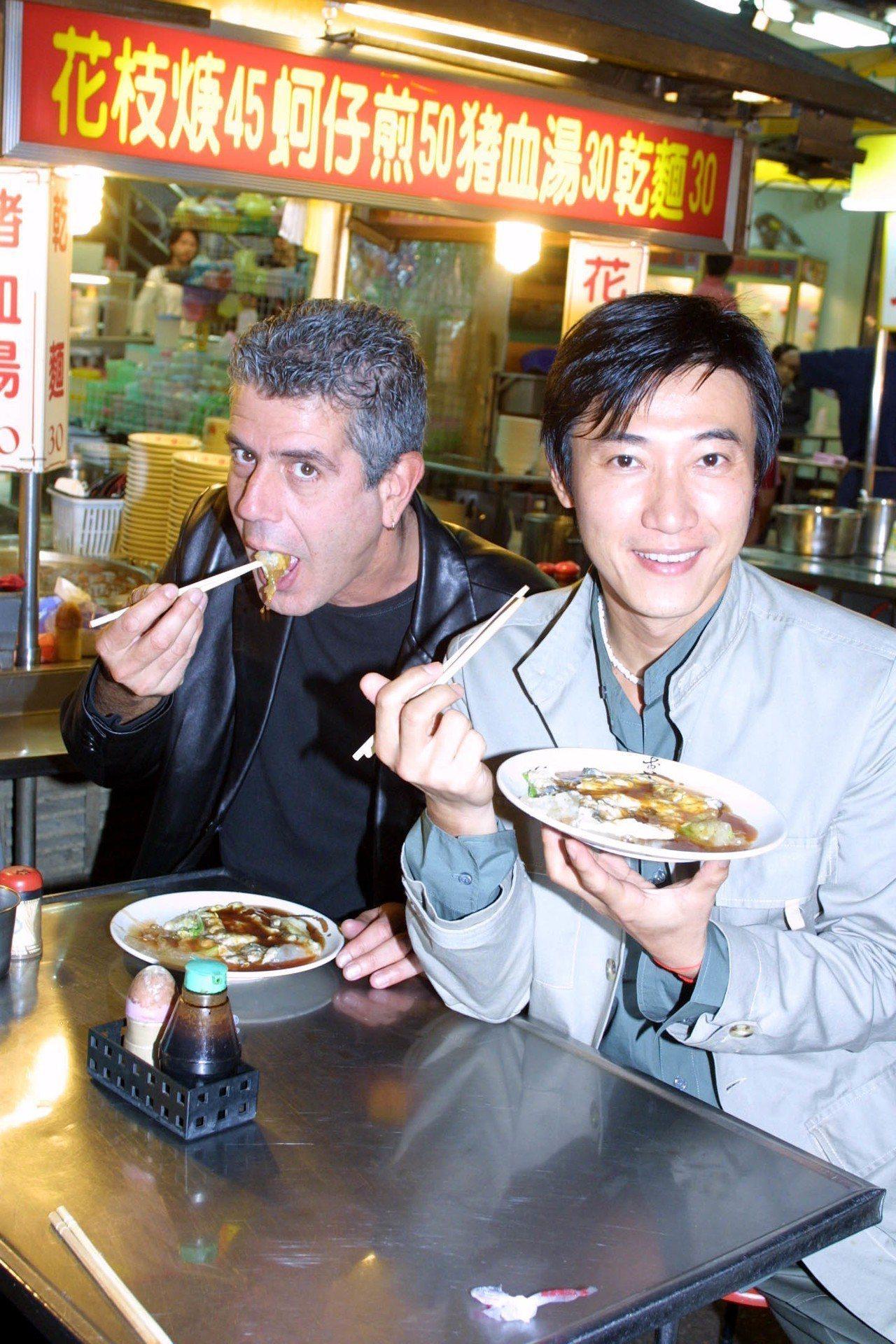 安東尼波登(左)多年前來台和陳鴻合作數日,讓陳鴻留下深刻印象。 圖/聯合報系資料...