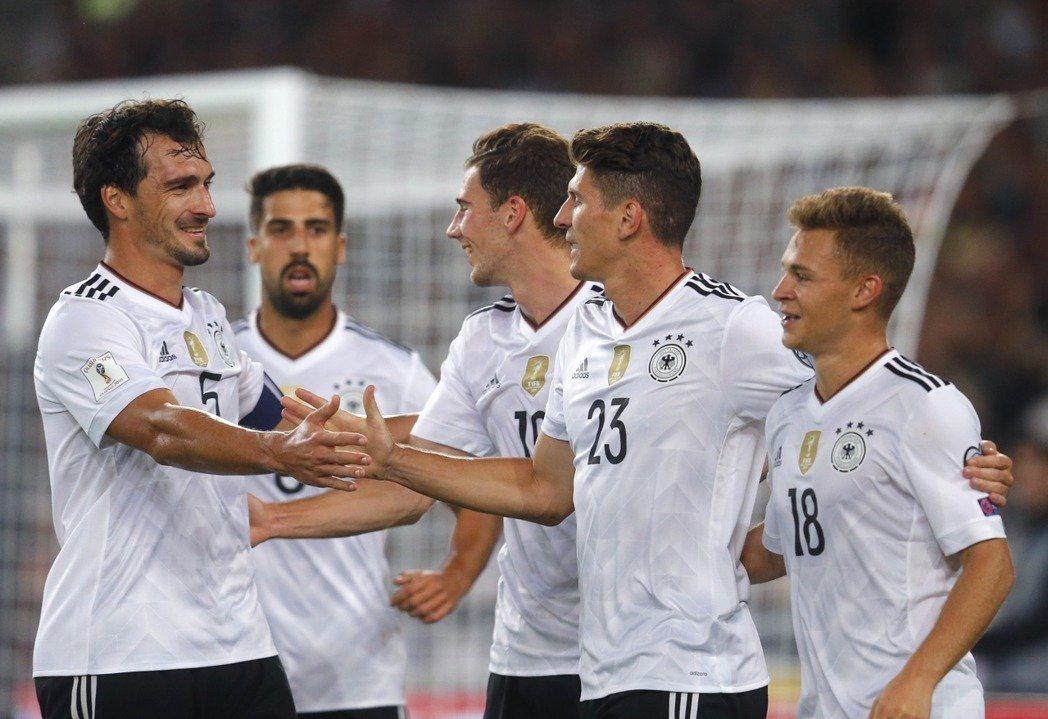德國隊是本屆世足賽奪冠大熱門。 美聯社
