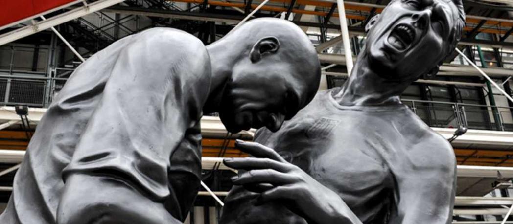席丹頭槌之像:阿爾及利亞藝術家亞伯德塞梅德(A.Abdessemed)的作品,2...
