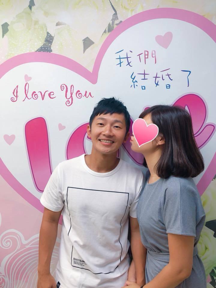 蔡昌憲正式宣告成為人夫。圖/摘自臉書