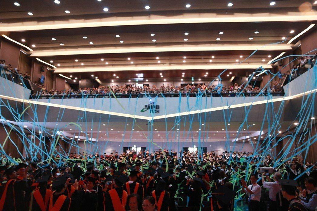 台北科技大學今天舉辦畢業典禮。圖/北科大提供