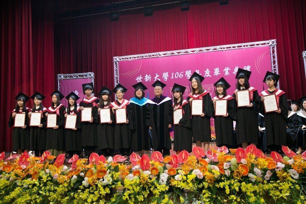 世新大學今天起連續2天舉行畢業典禮。圖/世新大學提供