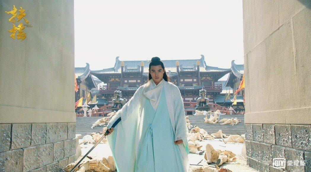阮經天在「扶搖」戲中飾演無極皇城太子。圖/愛奇藝台灣站提供