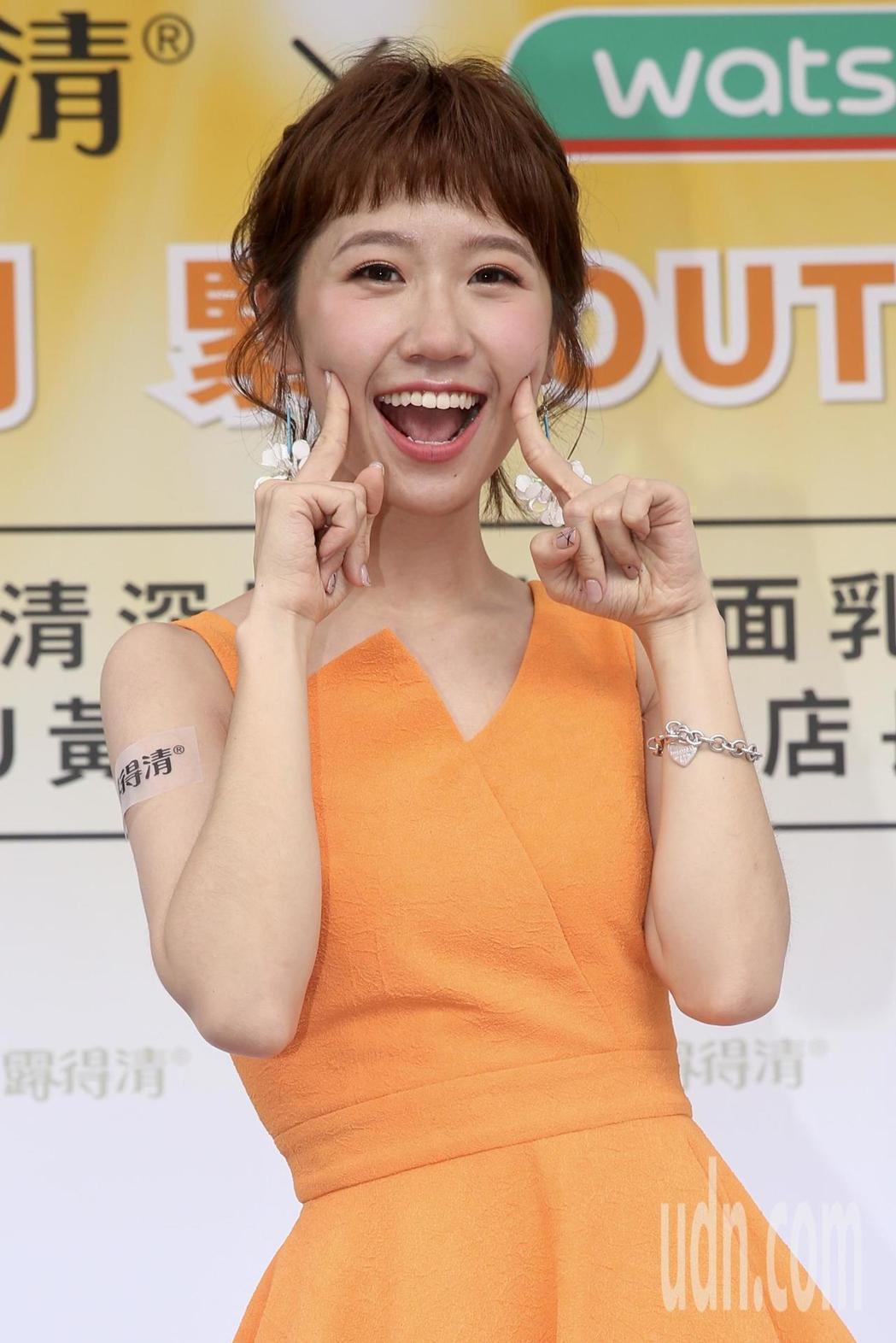 Lulu下午受邀出席保養品牌活動擔任一日店長。記者林伯東/攝影