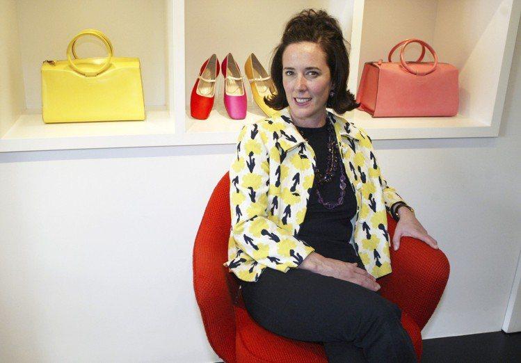 復古包頭與可愛的笑容是Kate Spade的招牌風格。圖/美聯社