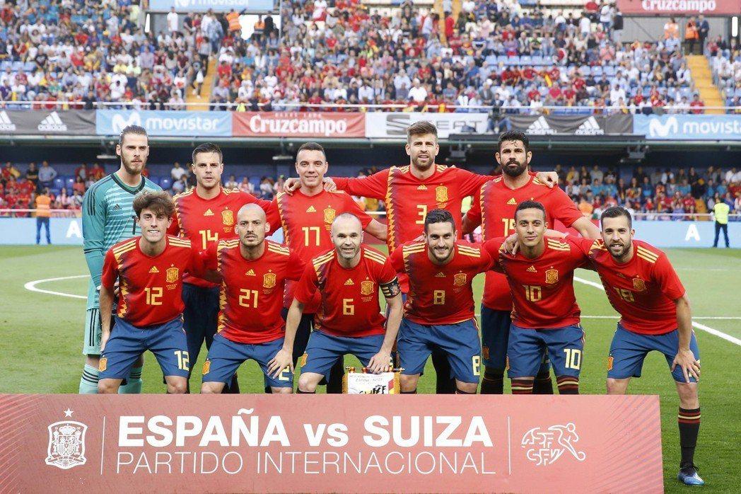 西班牙隊。 美聯社