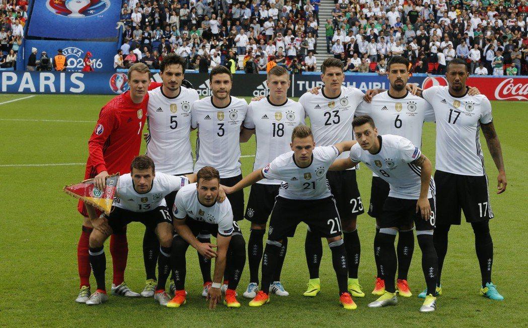 德國隊。 美聯社