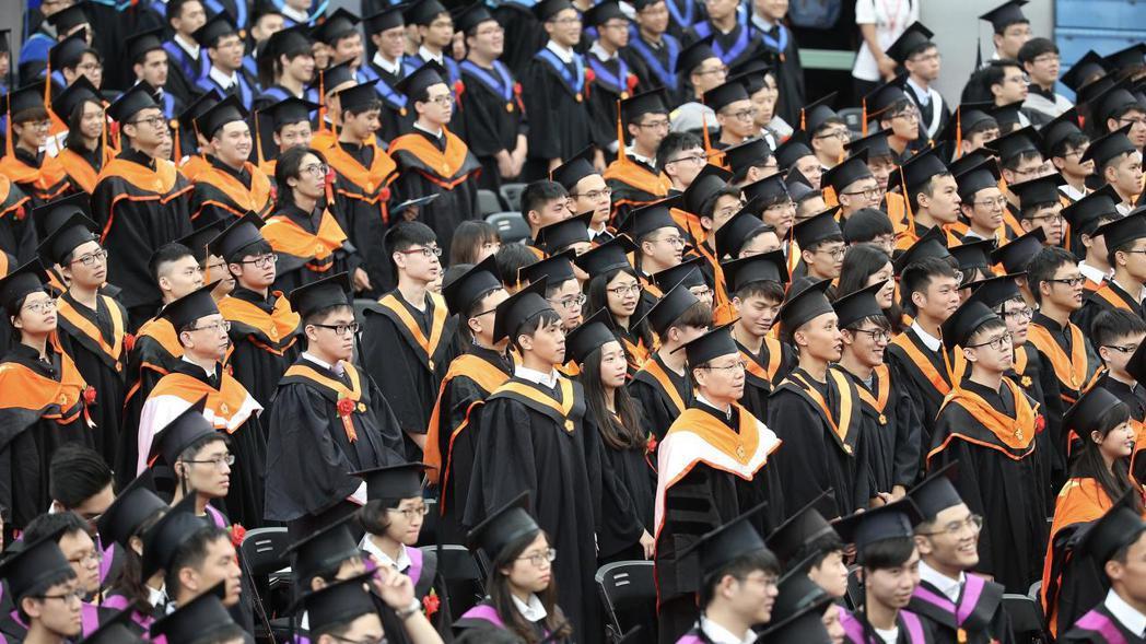 圖為台灣大學今年畢業典禮。 報系資料照