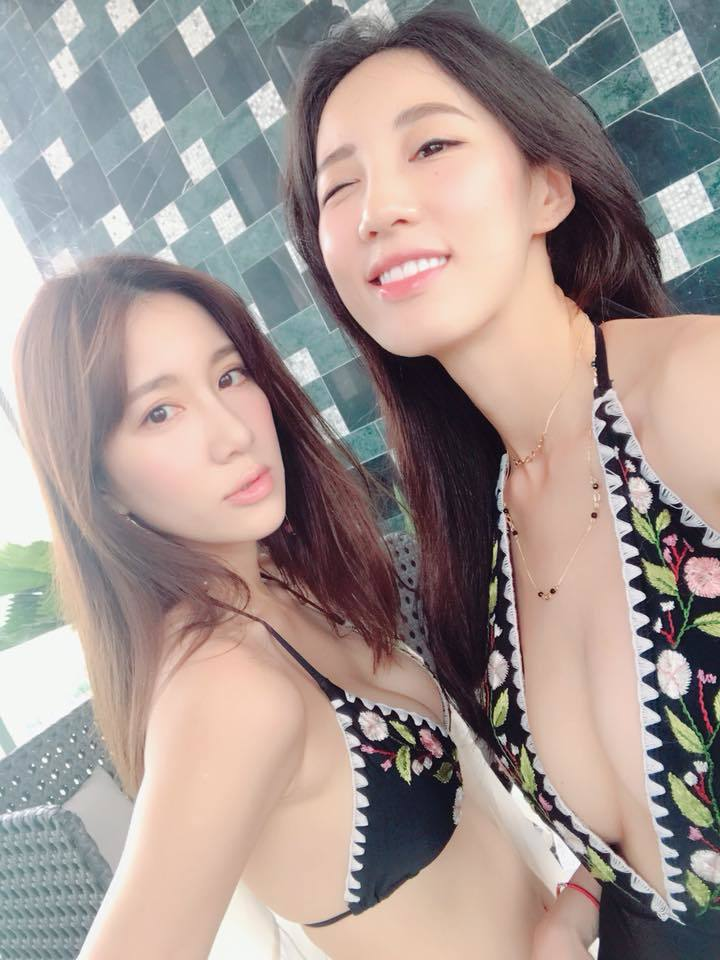 A瑤姐妹泰國穿泳裝曬辣照。圖/摘自Apple臉書
