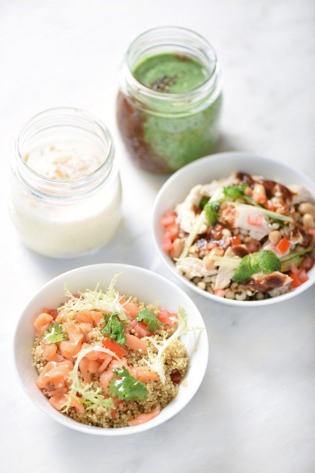 看準現代人重視健康養生,推出多種超能沙拉吧、健康思慕昔。圖/台北W飯店提供
