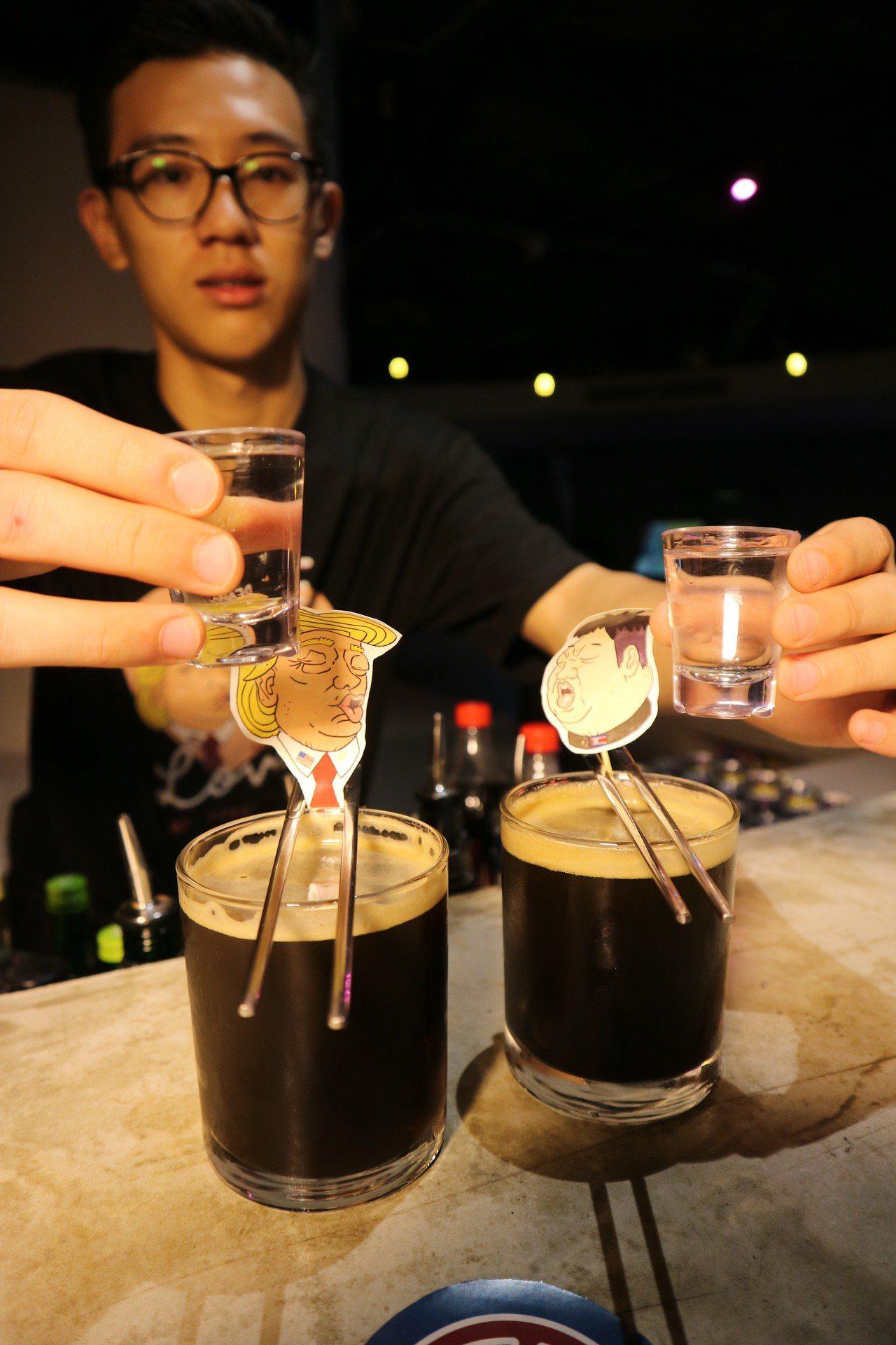 川金啾咪調酒「Bromance(兄弟間的浪漫)」不止在調酒內容上選擇川普最愛的可...
