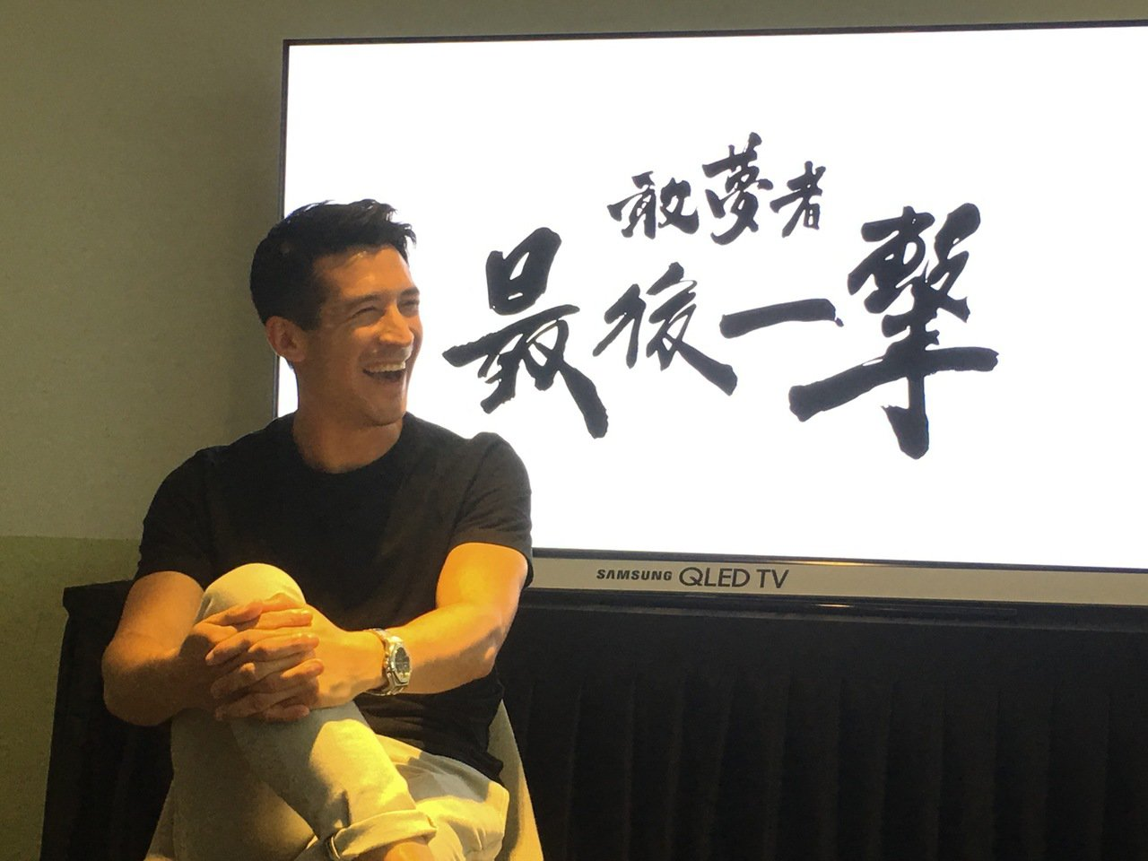 夏維耶返台宣傳個人紀錄片。 記者曾思儒/攝影