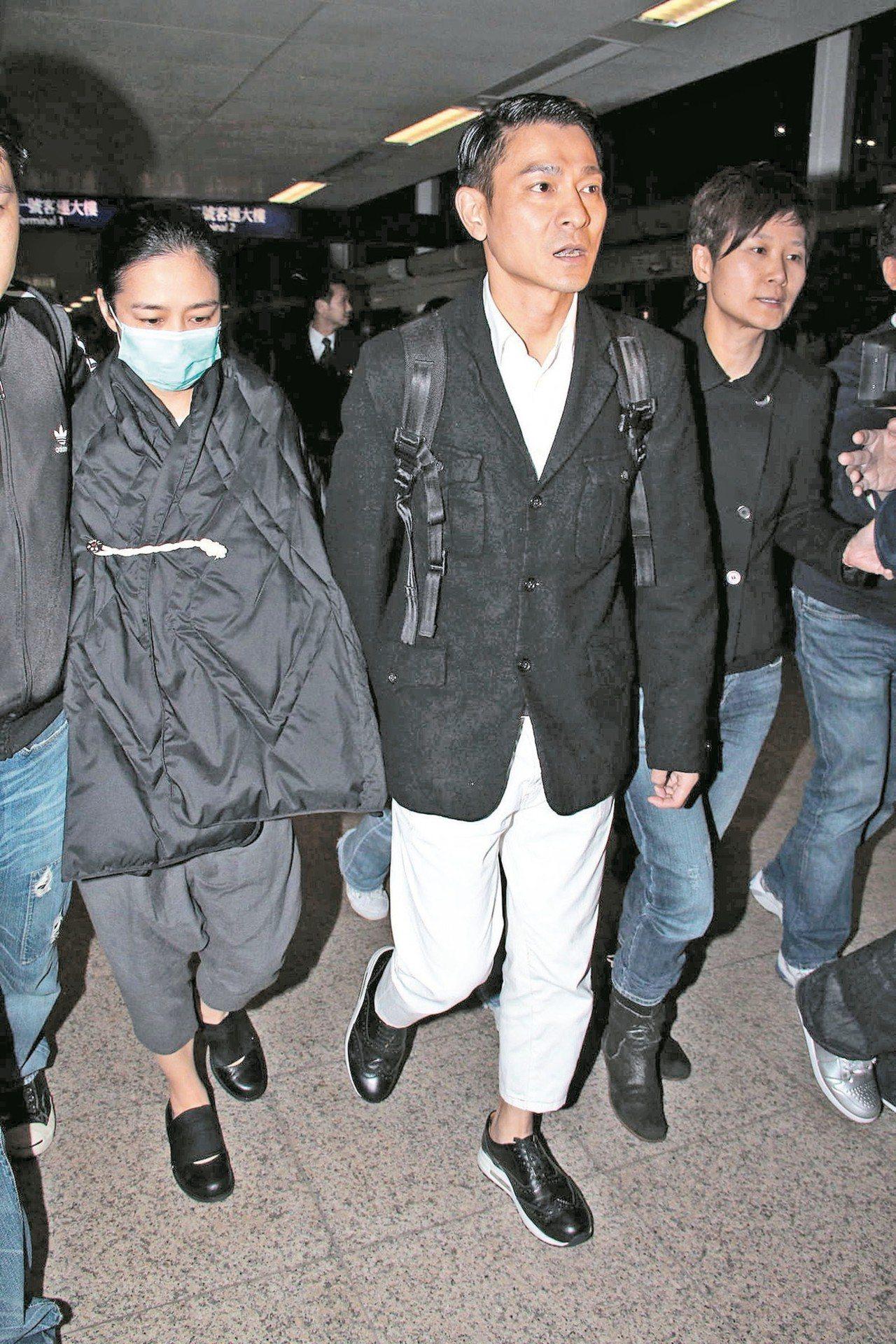 劉德華(右)太太朱麗倩又傳好「孕」。 圖/CFP資料照片