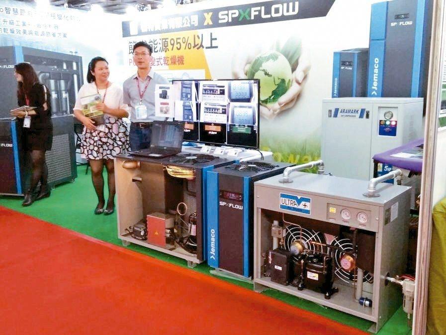 .信多芳實業在展場中展出來自美國的PCM相變化乾燥機,以先進PCM材質特性作為空...