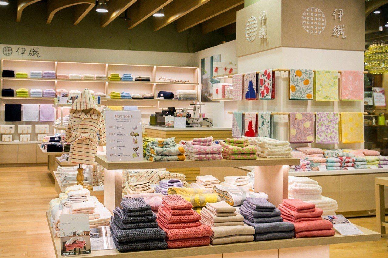 伊織今治毛巾專門店海外首店在誠品信義店。圖/誠品提供
