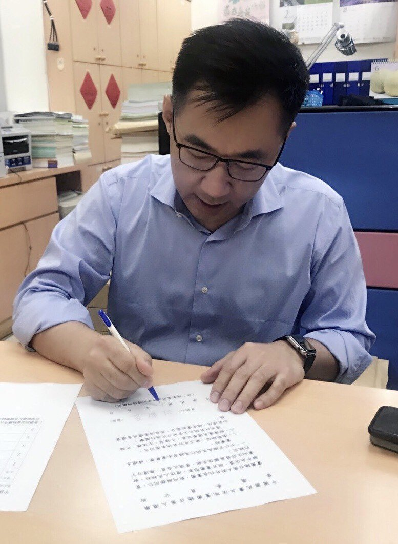 國民黨立委江啟臣今登記參選國民黨團總召。圖/江啟臣辦公室提供