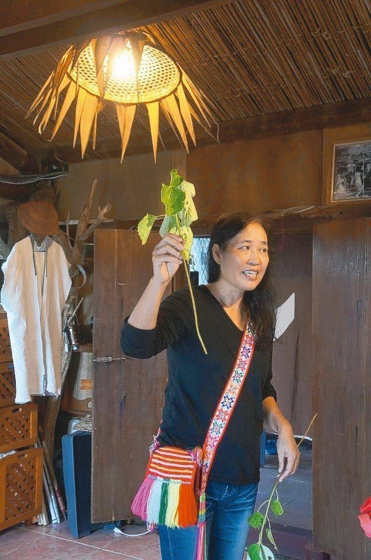 三代女巫家族傳承阿美族苧麻手工藝。圖/有行旅提供