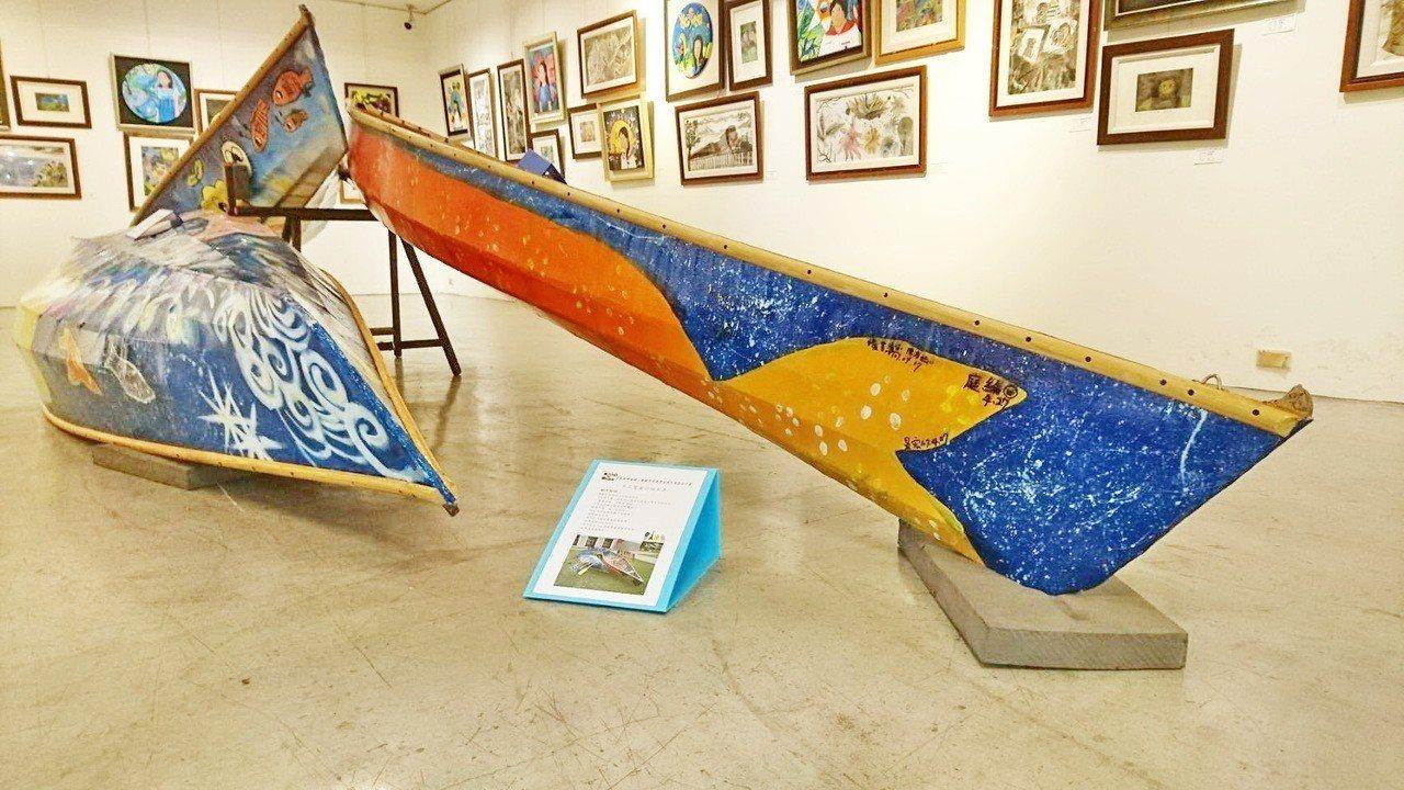 台東市新生國小六年級美術班學生畢業前的共同心願,將義賣2艘蒙皮舟,所得捐贈縣內弱...