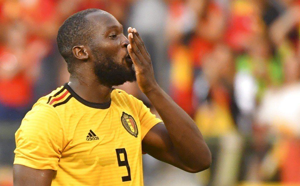盧卡庫(Romelu Lukaku)在比利時的世足賽最後一場熱身賽梅開二度,進球...