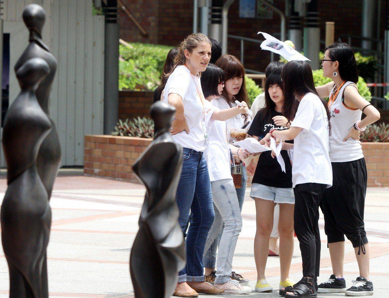 香港理工大學學生。 聯合報系資料照/記者侯永全攝影