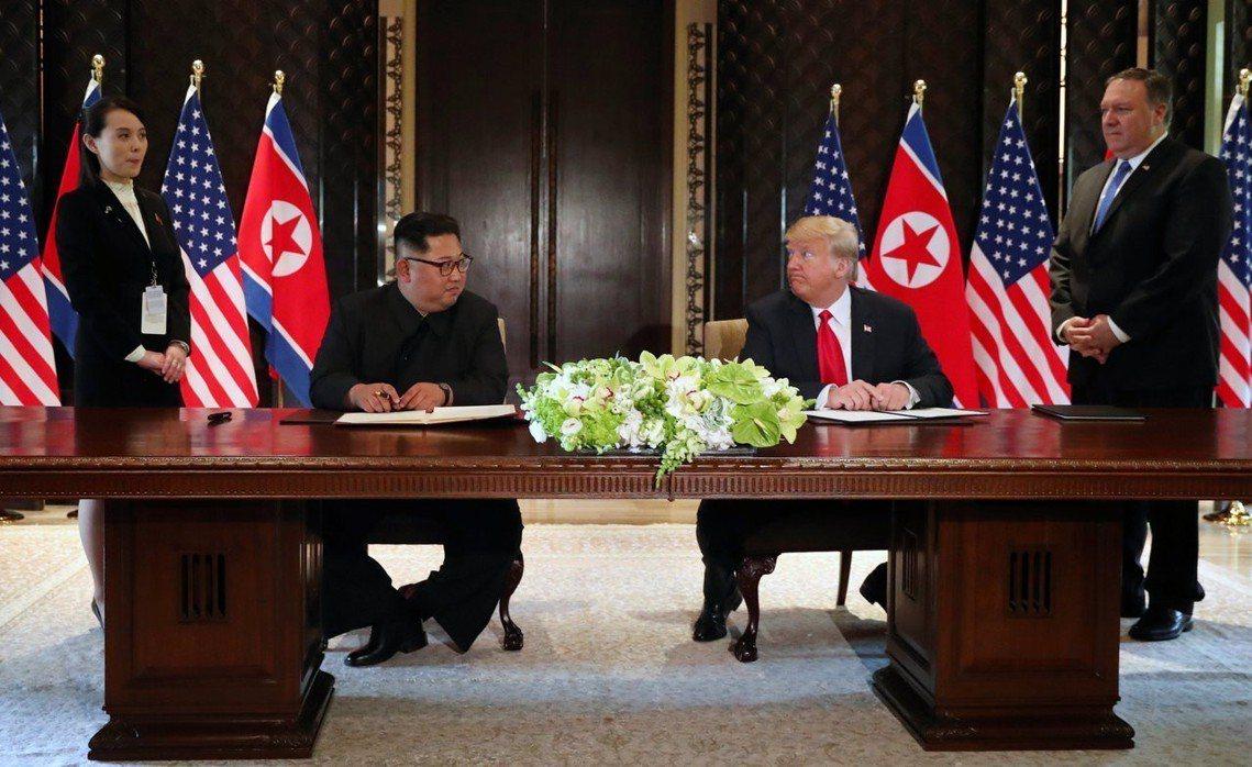 美國總統川普與北韓領導人金正恩,簽署共同聲明,確認「韓半島完全去核化」等共識。 ...