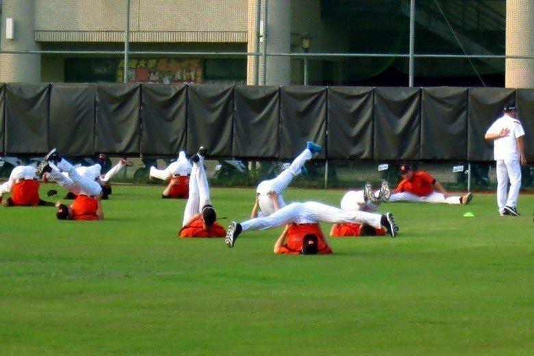 南韓職棒樂天巨人隊將連兩年到高雄春訓。 聯合報系資料照片