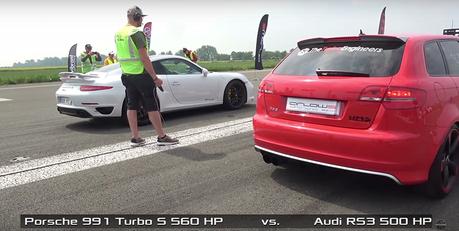 (影音) Audi RS3 Sportback要挑戰Porsche 911 Turbo S?