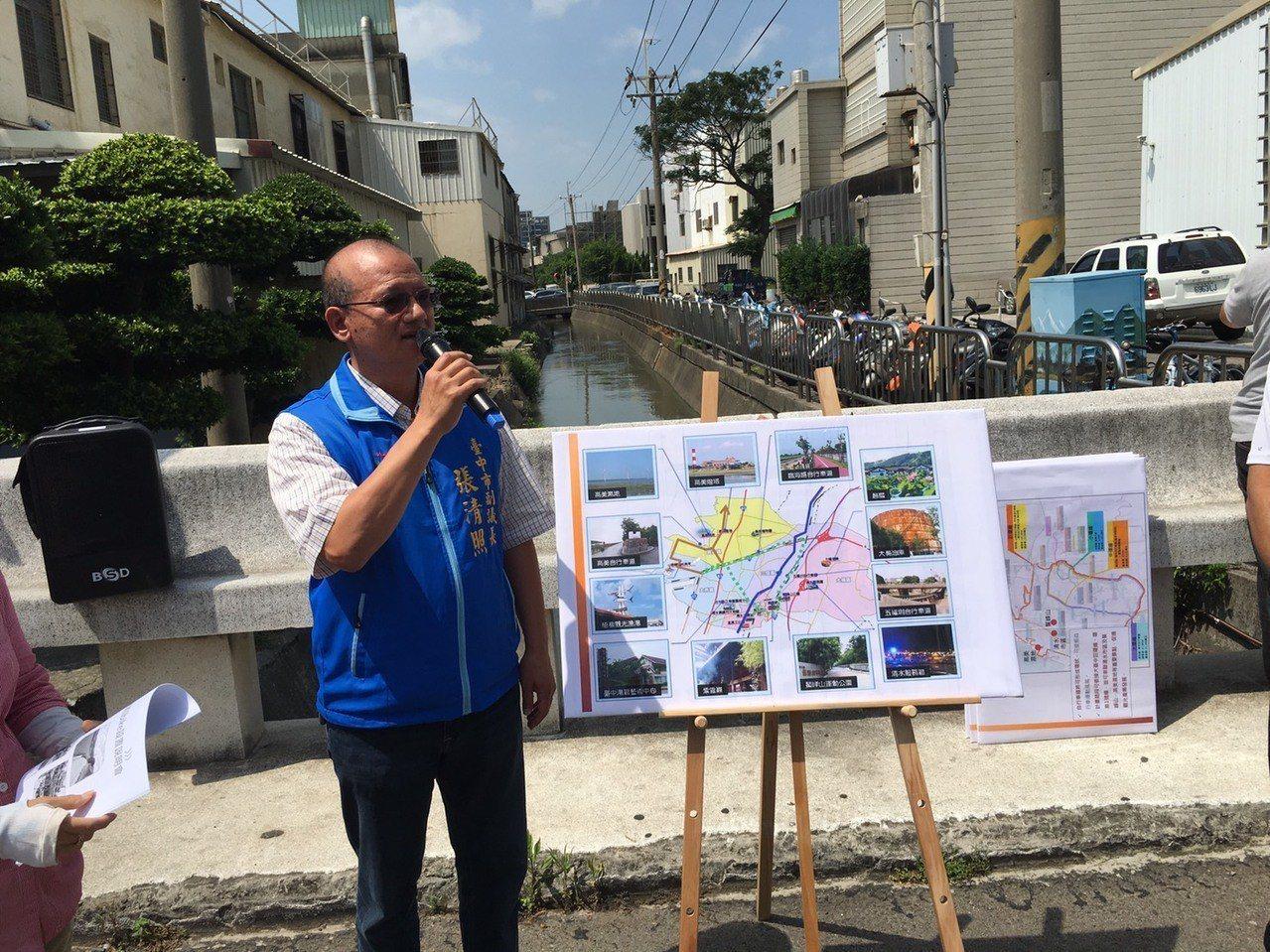 清水火車站將設IBIKE站,在張副議長爭取下,市府同意在水溝上加蓋爭地