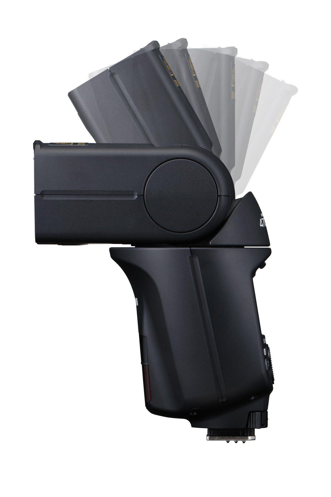 圖二、智慧閃光燈Speedlite 470EX-AI可分別向左或向右旋轉約180...